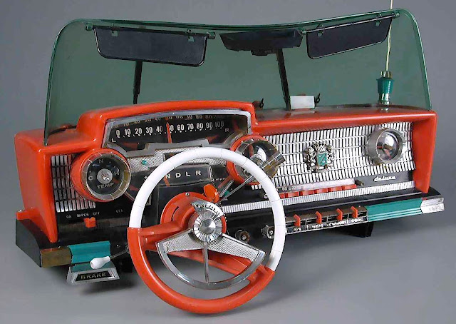 1960s plastic toy dashboard