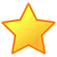 bright yellow star