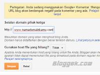 Cara custom domain Blogspot di Niagahoster