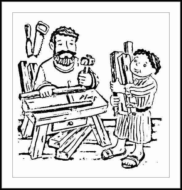 Dibujos para colorear Jesus carpintero - Imagui
