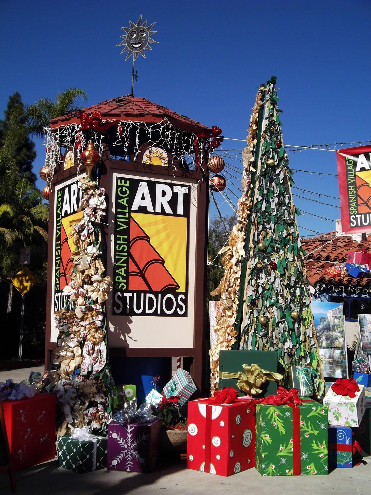 spanish village art center balboa park - Balboa Park Christmas Lights