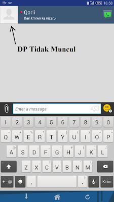 DP BBM Android Tidak Muncul
