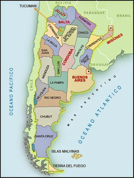 Geografa de Amrica Mapas para completar TP Amrica y sus