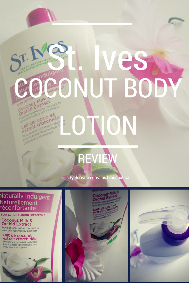 st ives coconut milk and orchid body lotion