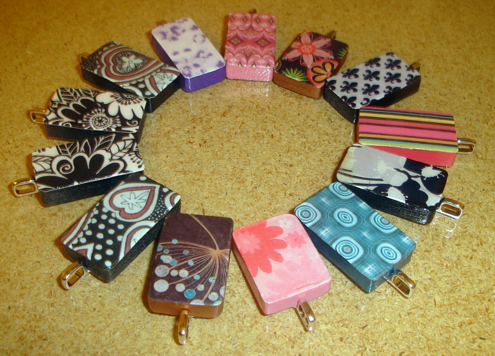 Crafter on a budget make a domino pendant make a domino pendant aloadofball Image collections