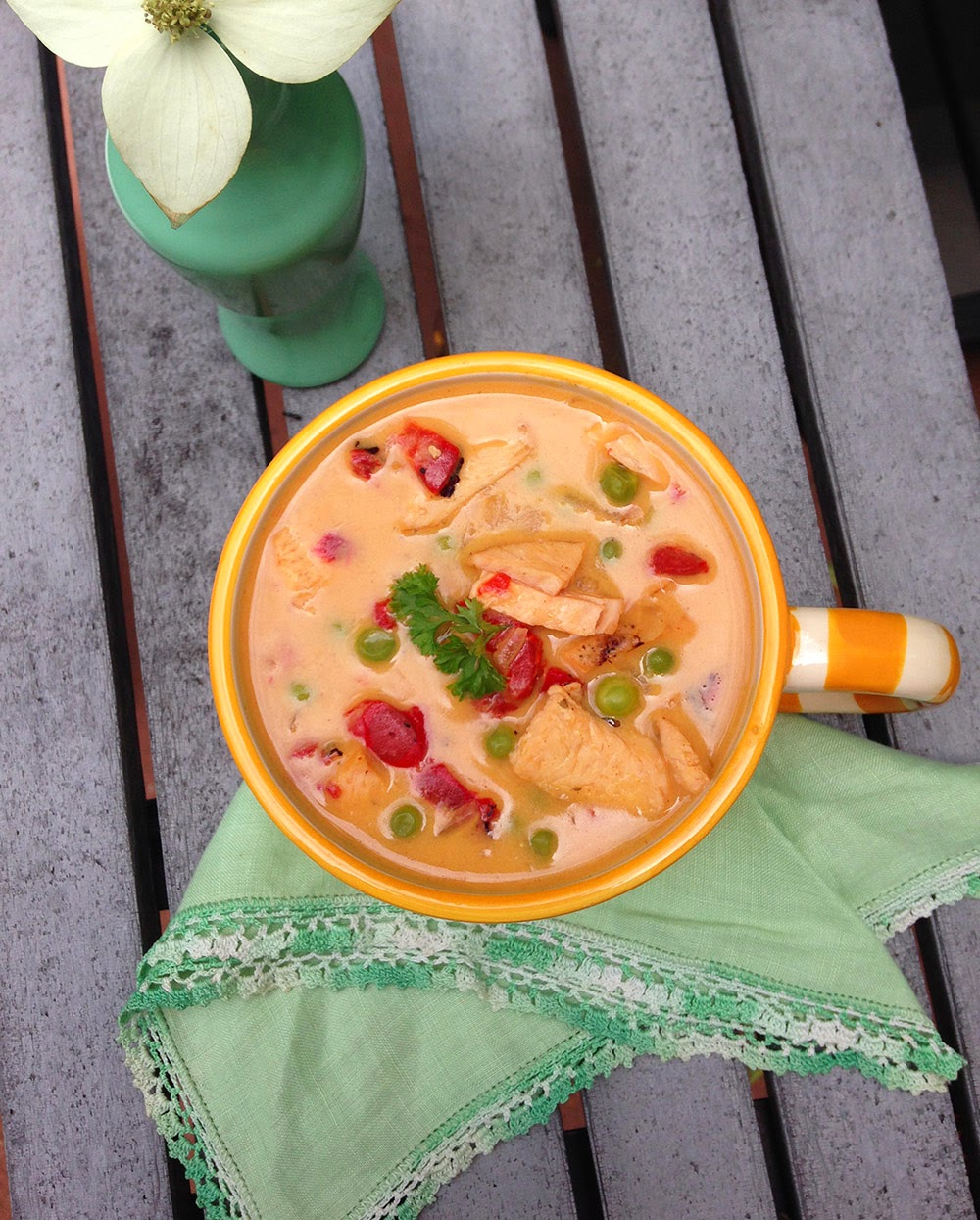 Crockpot Thai Coconut Chicken Soup - Peanut-free Recipe
