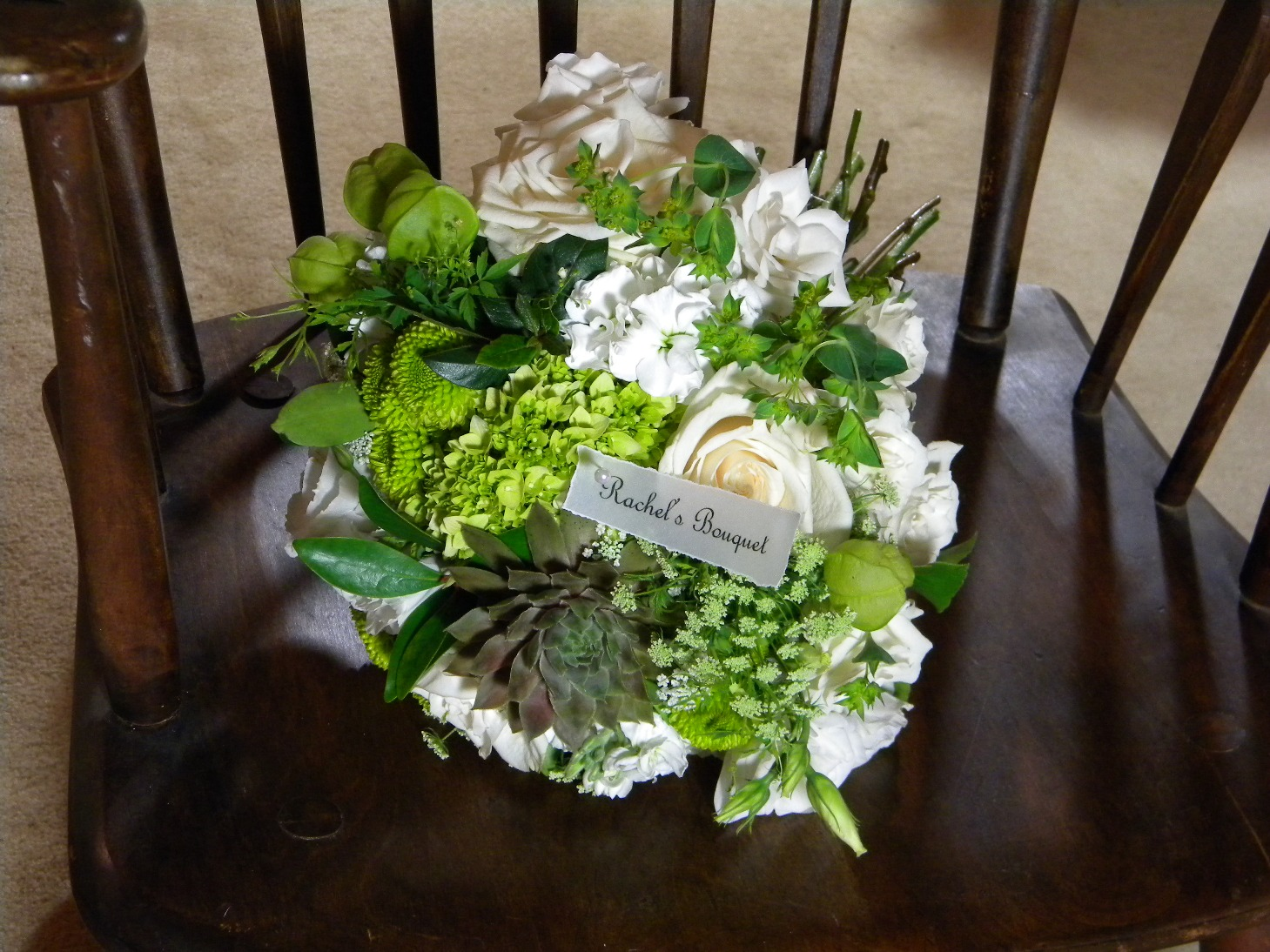 Wedding Flowers From Springwell Fresh Green And White Flowers For