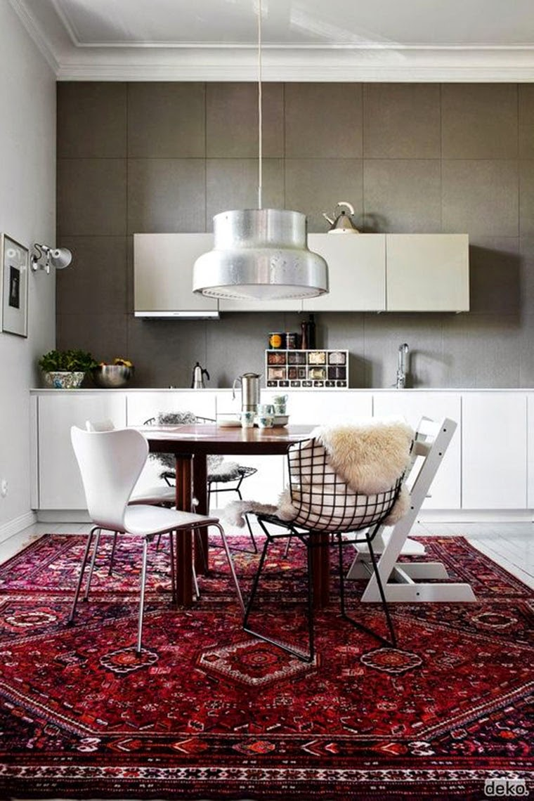 area rug in kitchn