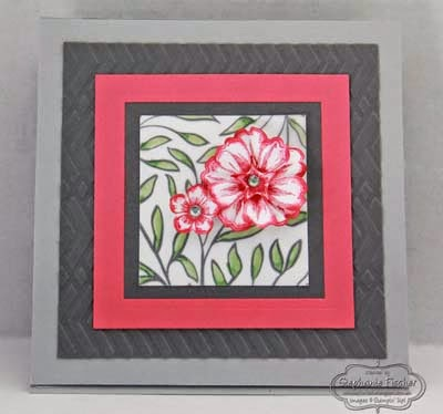 Stampin' Up! Sheer Perfection, Flower Shop, Pansy Punch