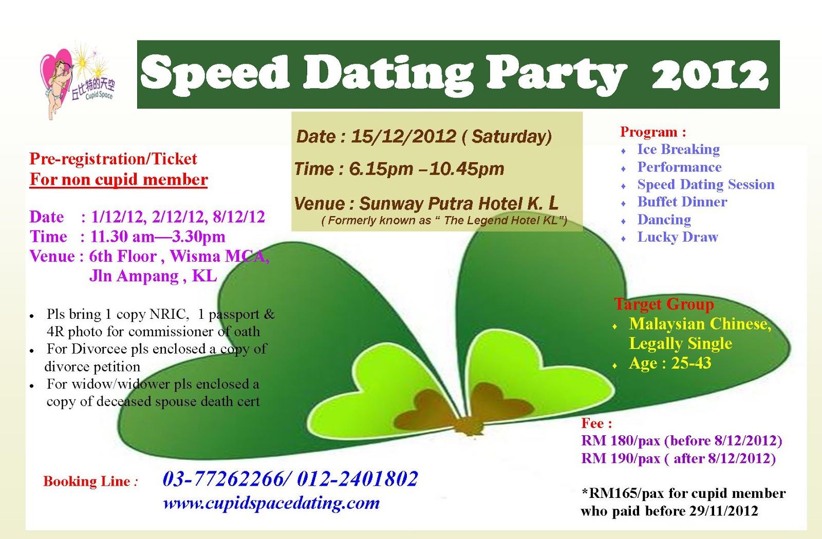 Free speed dating online