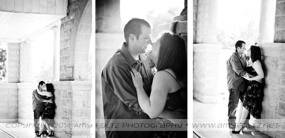 photos of a couple at Collett Park in Terre Haute, Indiana