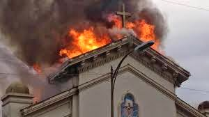 Holy Cross Church Fire