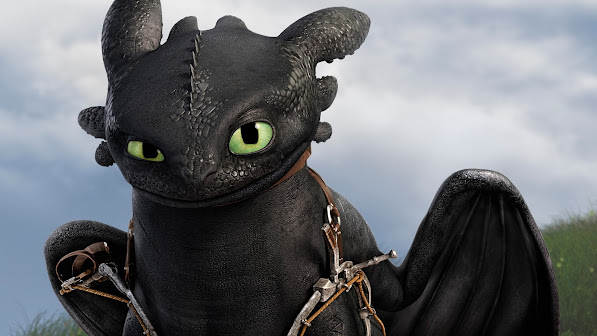 toothless / night fury in how to train your dragon 2