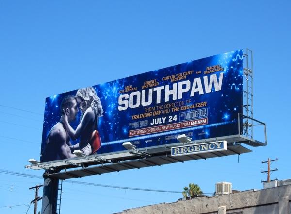 Southpaw movie billboard