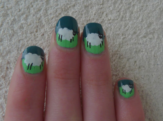 nail art moutons
