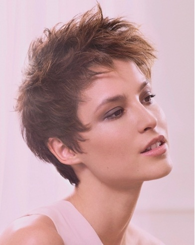 Romantic Choppy Layered Short Haircut 2014