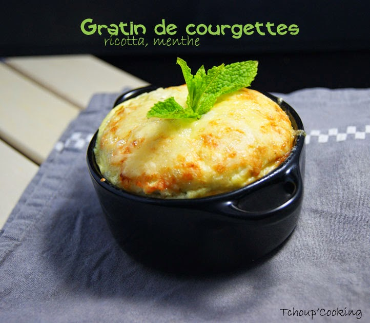 gratin de courgettes ricotta menthe. Black Bedroom Furniture Sets. Home Design Ideas