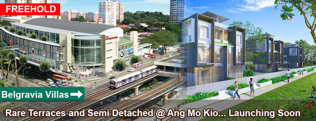 Belgravia Villas @ Ang mo kio Singapore - Freehold Terraces and Semi Detached Houses