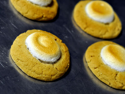 Fluffernutter Thumbprint Cookies - Photo by Taste As You Go