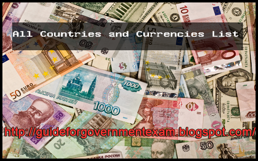 All Countries and Currencies List