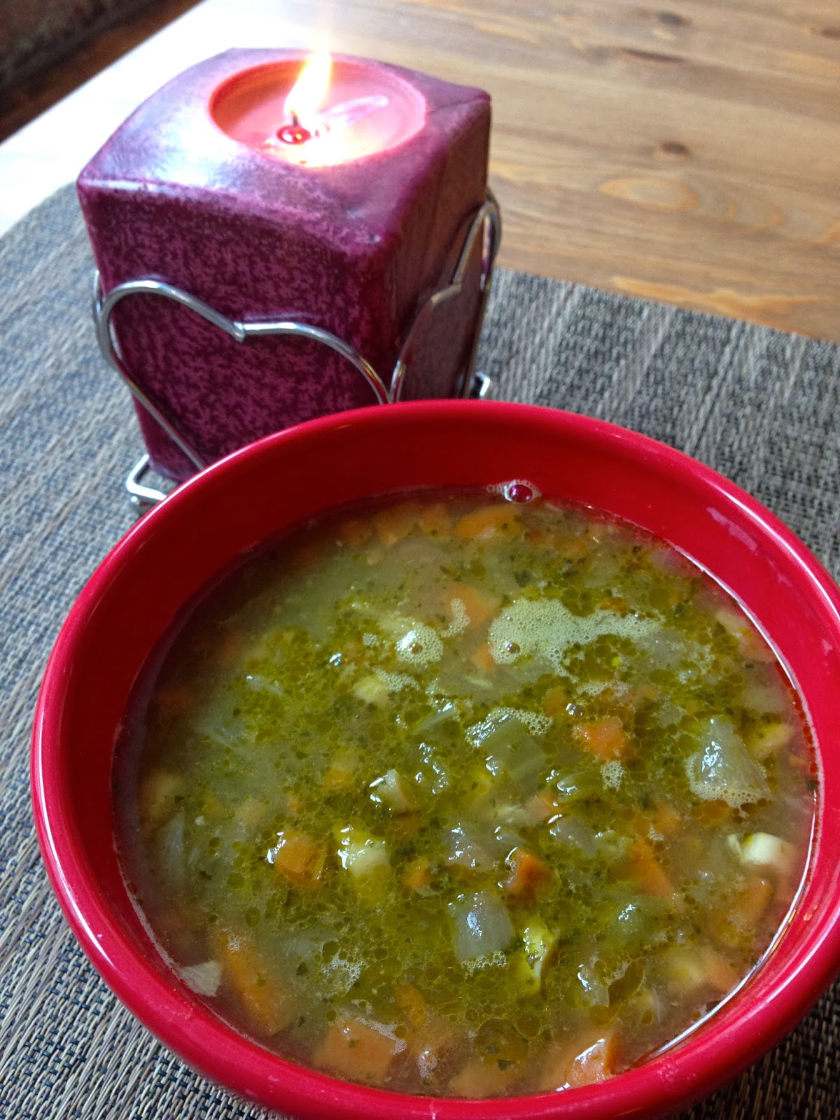vegan gingered split pea soup