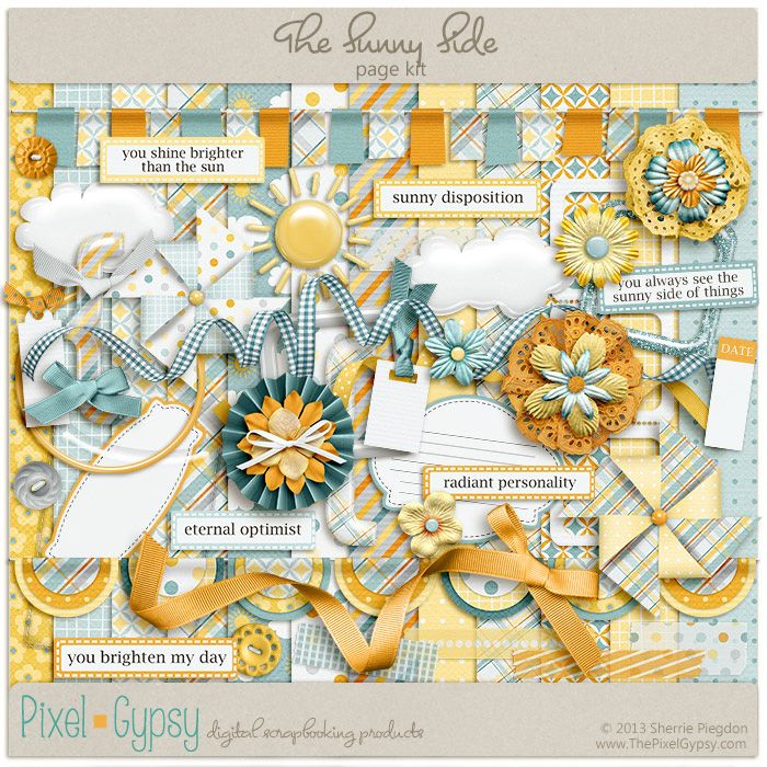 The Sunny Side Digital Scrapbooking Page Kit