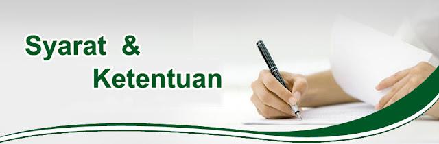 syarat dan ketentuan, syarat dan ketentuan belanja online