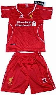 jual baju bola anak, ready jersey kids liverpool home warna merah, musim 2014/2015