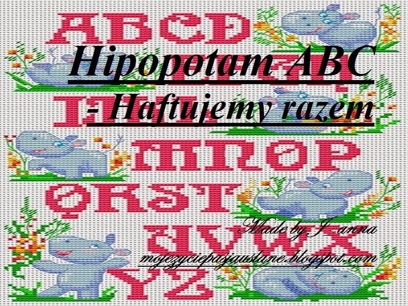 Hipopotam ABC - haftujemy razem :)