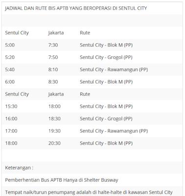 Jadwal dan Rute Bus APTB yang Beroperasi di Sentul City