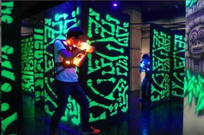 in laser war zone