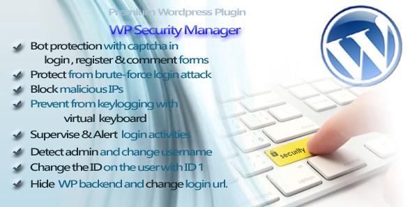 wp security manager wordpress plugin