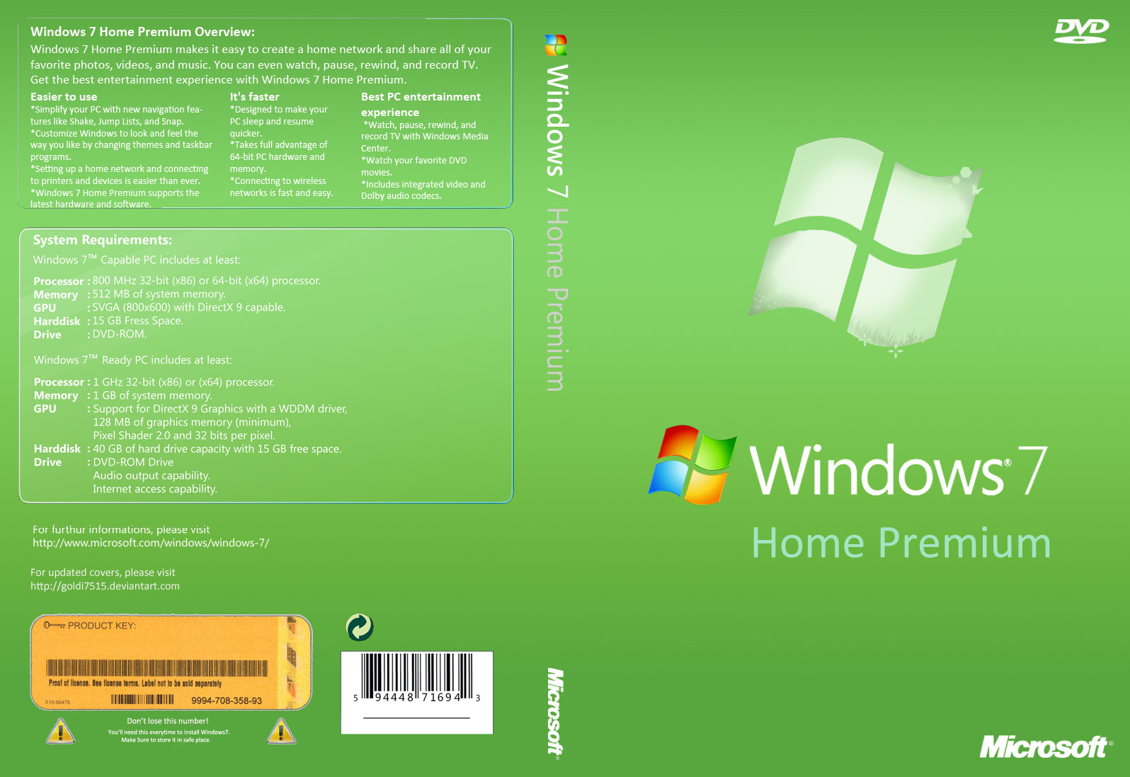 Windows 7 Home Premium 32 BIT AND 64 BIT