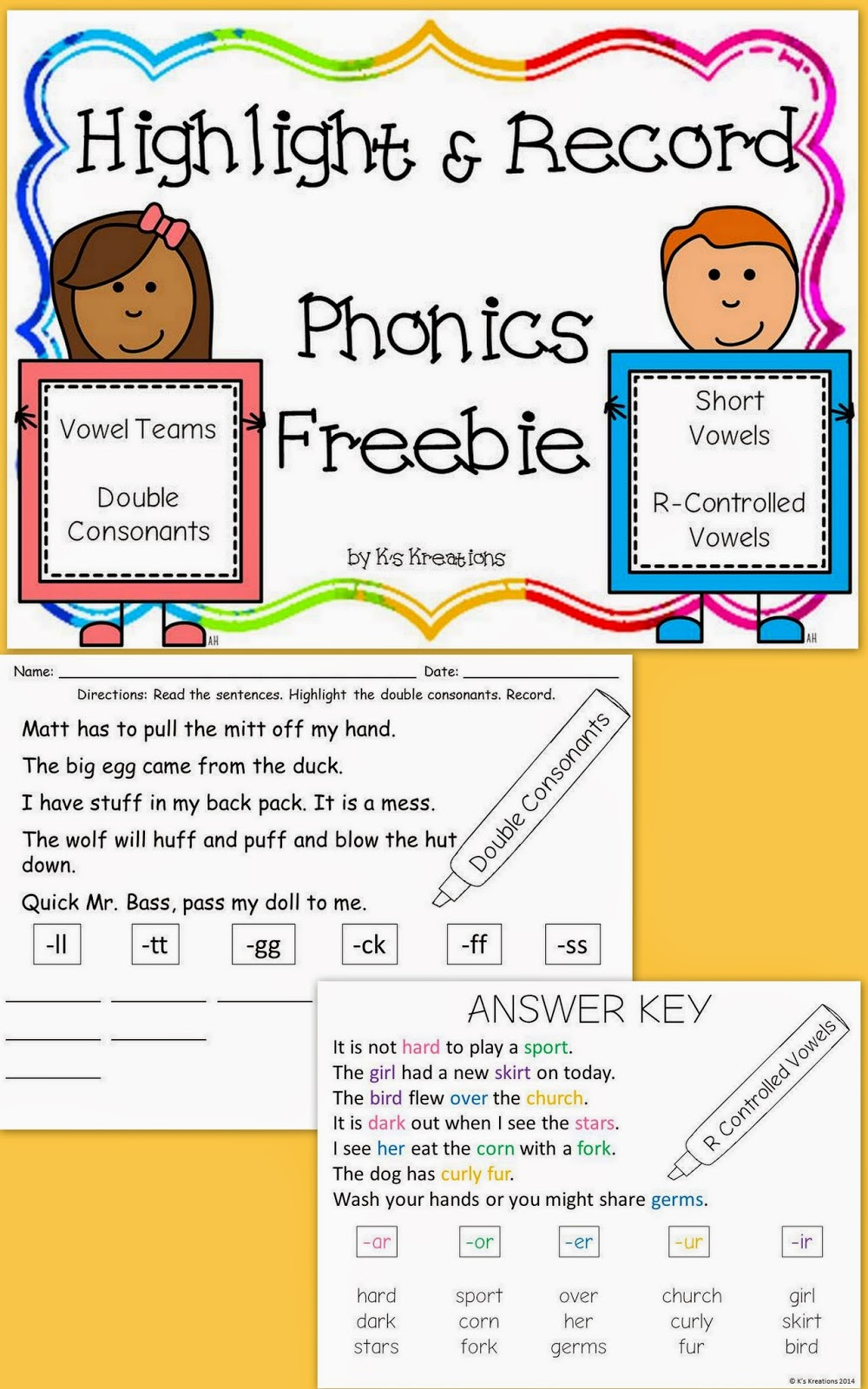 http://www.teacherspayteachers.com/Product/Highlight-Record-Phonics-Freebie-1037494