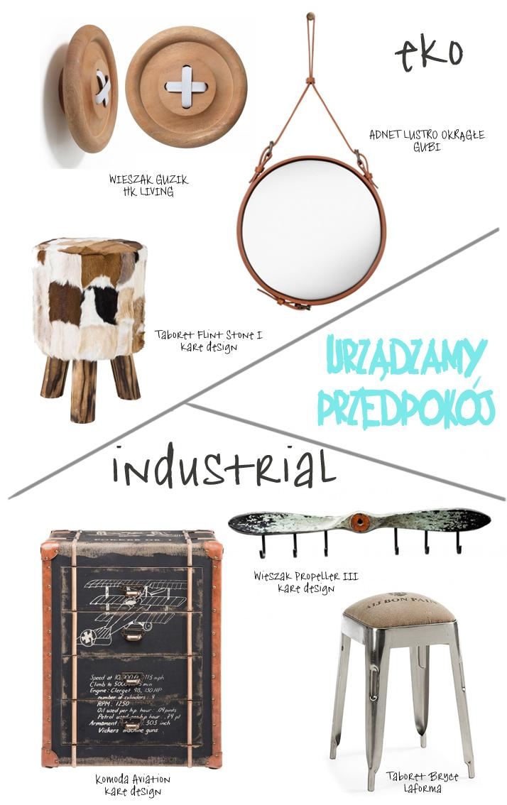 Dacon-Design-architekt-przedpokoj-wieszak-guzik-taboret-stolek-lustro-industrialny-eko