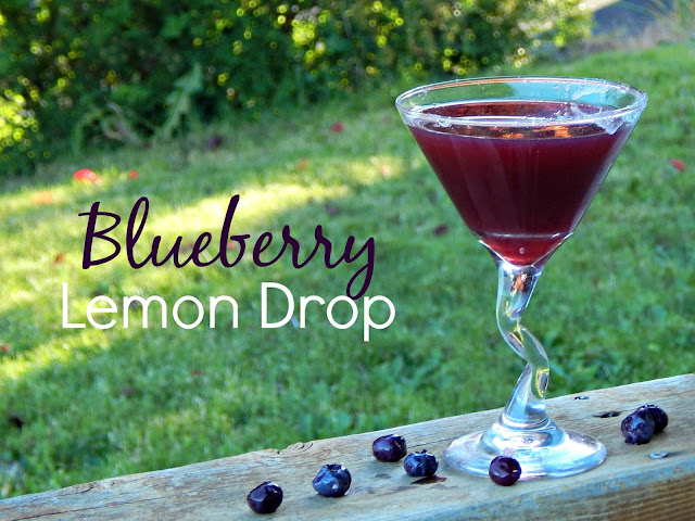 Blueberry Lemon Drop Cocktail via @melissakaylene