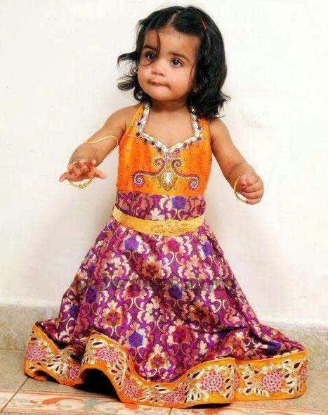 Fabulous Baby in Benaras Frock