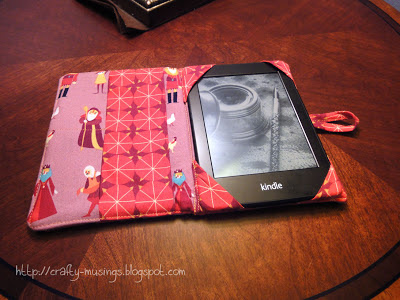 my kindle cover, open with kindle inside