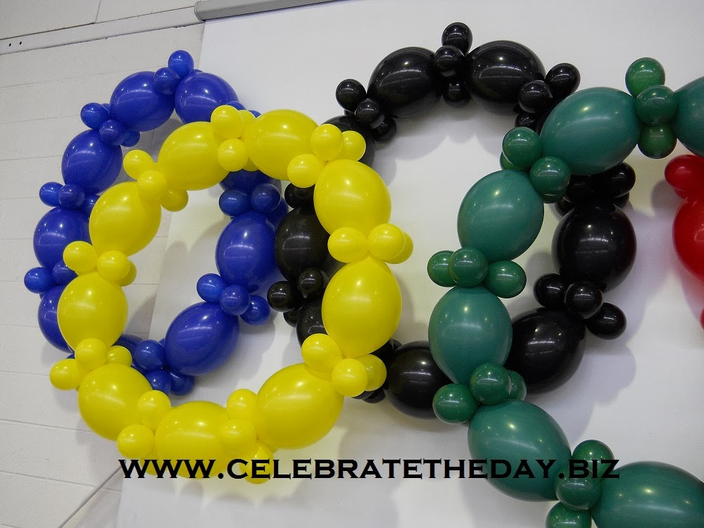 Olympics 2014 Balloon Decorations by Celebrate the Day