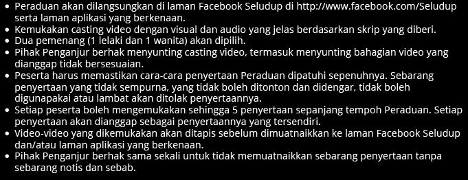Cara-cara Uji Bakat Seludup Peluang Menang RM15,000