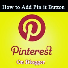 Add pin it button on blogger