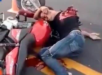 Motociclista Depedazado