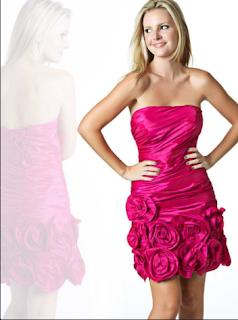 Vestido Rojo chicle de NocheVieja 2012