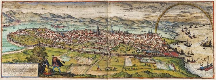 Georg Braun & Frans Hogenberg - Civitates Orbis Terrarum, Band 1, 1572. Barcelona
