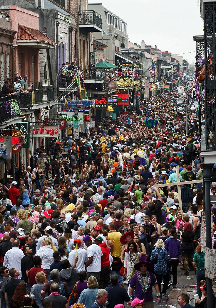 ... you can check out the shenanigans down on Bourbon Street via THIS webcam ...