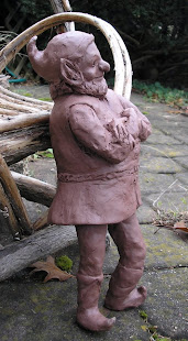 A Sculpted Garden Gnome