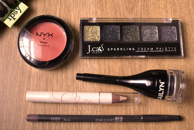 Cailyn Gel Eyeliner, Nyx Cream Blush, J. Cat Beauty, Chella, Starlooks