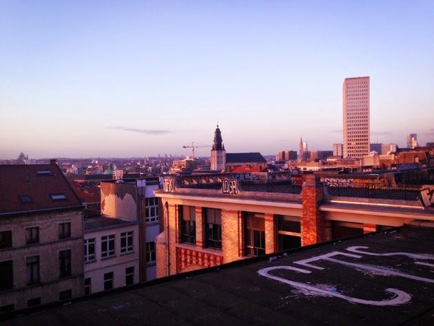 Coucher de soleil Bruxelles Palais de Justice