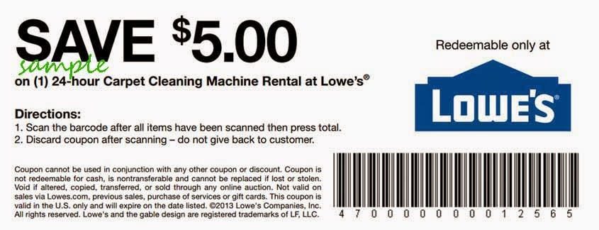 Lowes Home Improvement Coupons November 2014
