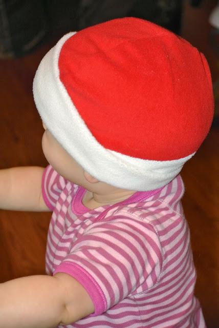 fleece baby santa hat